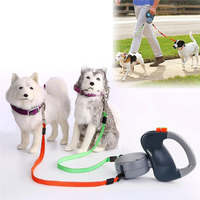 Retractable Outdoor Automatic Walking Leash For Two Dogs Small Large Dogs Strong Leashes Training Walking Leash Pet Supplies