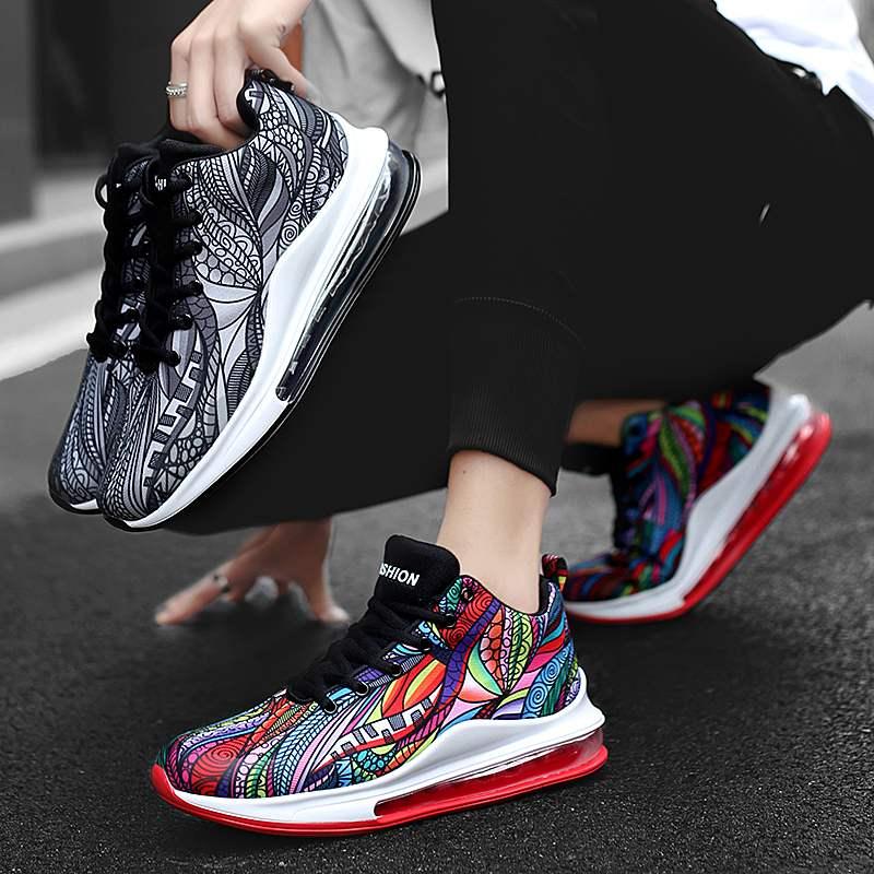 Troadlop Bunte Komfortable Licht Gewicht Turnschuhe Herren Leder Schuhe Casual Schuhe
