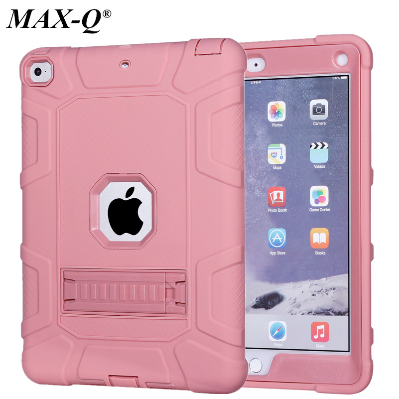 For Apple new iPad 2017 9.7'' Case Silicone Hybrid Rugged Armor Kickstand Case Cover For new iPad 9.7 inch 2017 2018 Smart Cover