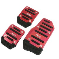 ZYHW 3 Pcs Stainless Steel Car Pedal Non Slip Racing Manual Auto Car Pedals Covers
