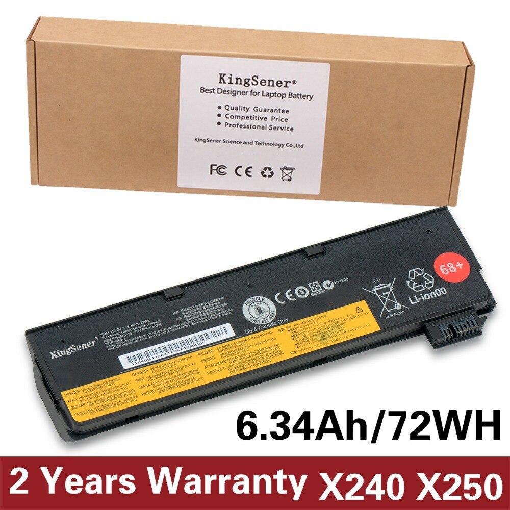 Korea Cell KingSener New Battery for Lenovo Thinkpad X270 X260 X240 X240S X250 T450 T470P T450S T440 T440S 45N1136 45N1738 72WH