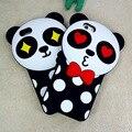 Nuevo Caso De Silicona para El Iphone 5 5S Se 6 6 s Más Lindo 3D Panda de la Historieta de Lujo Amor Pareja Cubierta de Goma Suave Casos Fanny Coreano