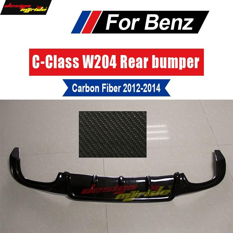 Para Mercedes Benz c63 W204 rear bumper lip difusor de Carbono estilo FiberC180 C200 C280 C300 C350 & C63 bumpe Posterior lábio 12-14
