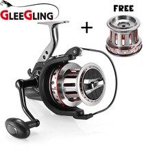 GLEEGLING 10000 серия спиннинговая катушка с 1 рыболовной катушкой+ 2 металлической проволокой соотношение 4,7: 1 ручка рыболовная удочка колеса 11+ 1BB