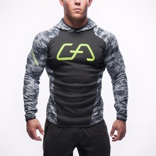 2017 mode Männer Hoodies Sweatshirt Trainingsanzug Tarnung Mit Kapuze Jacke Männlich Schlank Hoode Pullover Fitness Kleidung