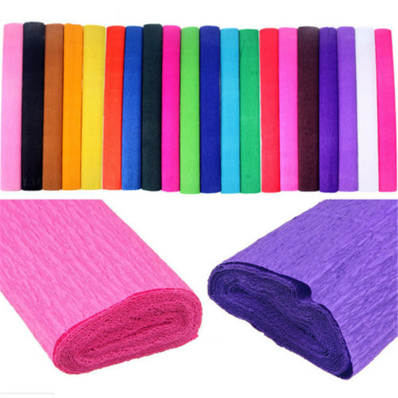 1 x Handmade DIY Crepe Paper Streamer Roll Wedding Birthday Party Supplies Children Decorations Wholesale DROP SHIPPING OK in Party DIY Decorations from Home Garden