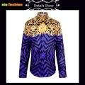 Мужские Цветочные Рубашки Моды Человек Фантазии С Длинным Рукавом Harajuku 3D цветы Смокинг Рубашки Большой Размер M-XXL Благородный Королевский Мужчины одежда