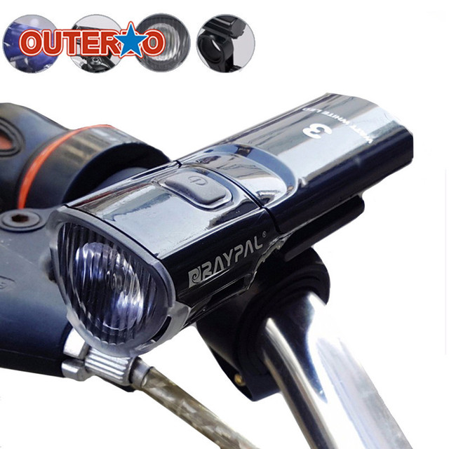 3W 3 Modes Bicycle Front Light MTB Bike LED Lights Torch Mountain Cycling Led Flashlight with Light Clip Holder Accessories