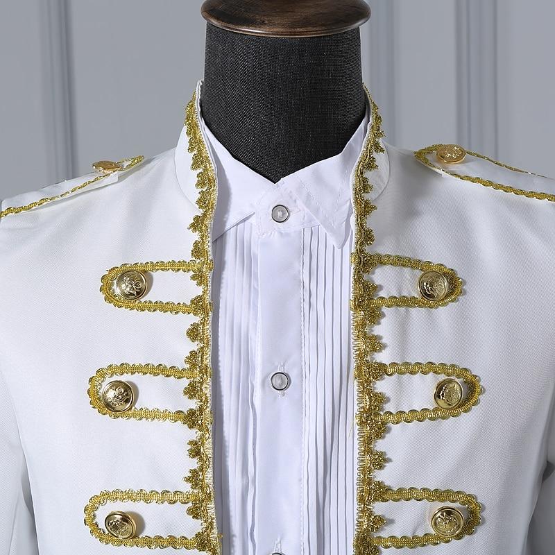 (veste + pantalon) costume masculin noir bleu blanc costumes magicien - Vêtements pour hommes - Photo 5