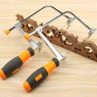Diy ajustável carpintaria viu scroll lidar com a ferramenta de aço carbono u forma guirlanda curva fio lâmina serra esculpida 5 pçs lâmina