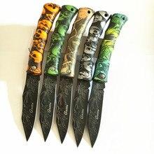 Ghillie классный Фруктовый нож, складной карманный нож для кемпинга, креативный череп, Бамбуковая ручка ABS, инструменты для повседневного использования, 5 цветов