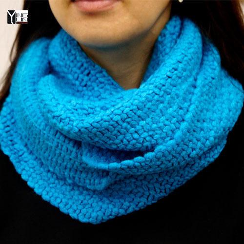 Frete Grátis 2015 nova infinito cachecol de tricô lenços silencioso inverno das mulheres cor sólida coleiras capa scarf lenços das senhoras