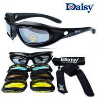 Daisy C5 Desert Storm Sunglasses 4 Lenses Goggles Tactical Eyewear Eye Protection For Airsoft UV400 Glasses