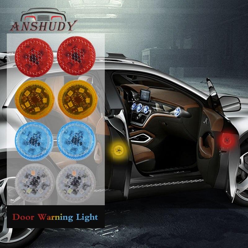 LED Car Door Opening Warning Light Magnetic Wireless Strobe Flashing Signal Lights 3/5 LEDs Universal Anti Collision Safety Lamp