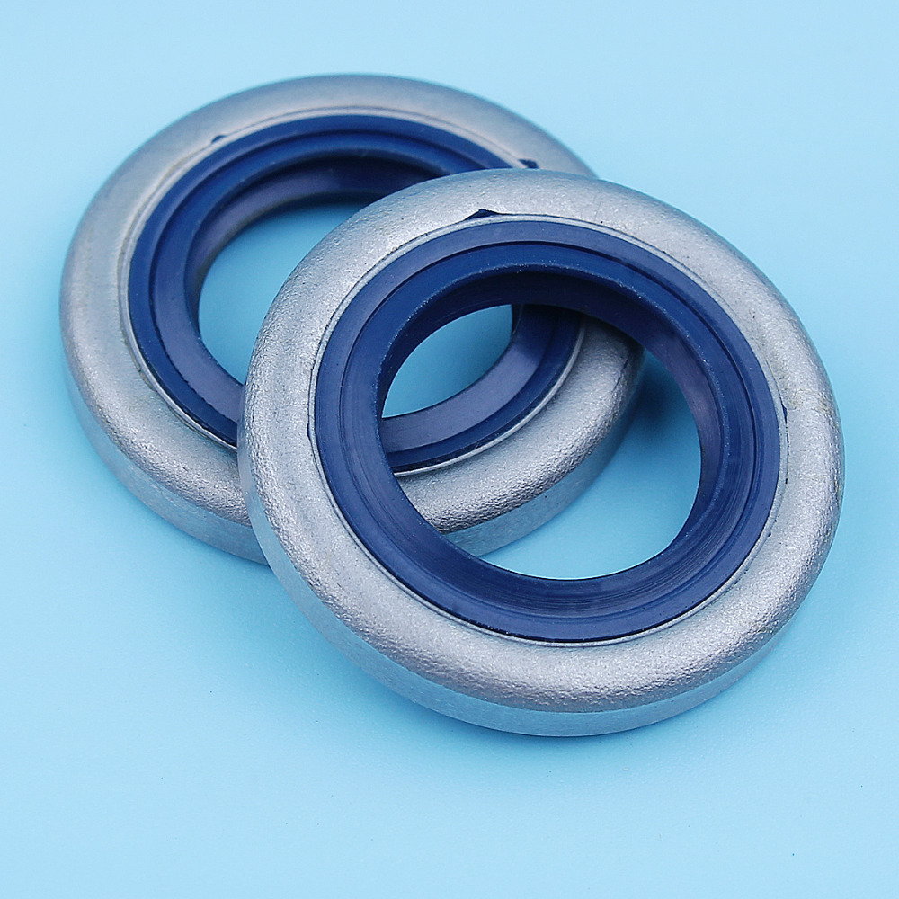 2 X Crank Crankshaft Oil Seal Set For Husqvarna 51 55 254 257 262 357 359 JONSERED 2041 2045 2050 2159 GR 41 EPA Chainsaws