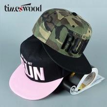 Blagovna znamka Camo tekaška črka Snapback Baseball Cap maskirna Hip Hop kapa za moške Ženske Street Dance Fashion Aba Reta Pink TIMESWOOD