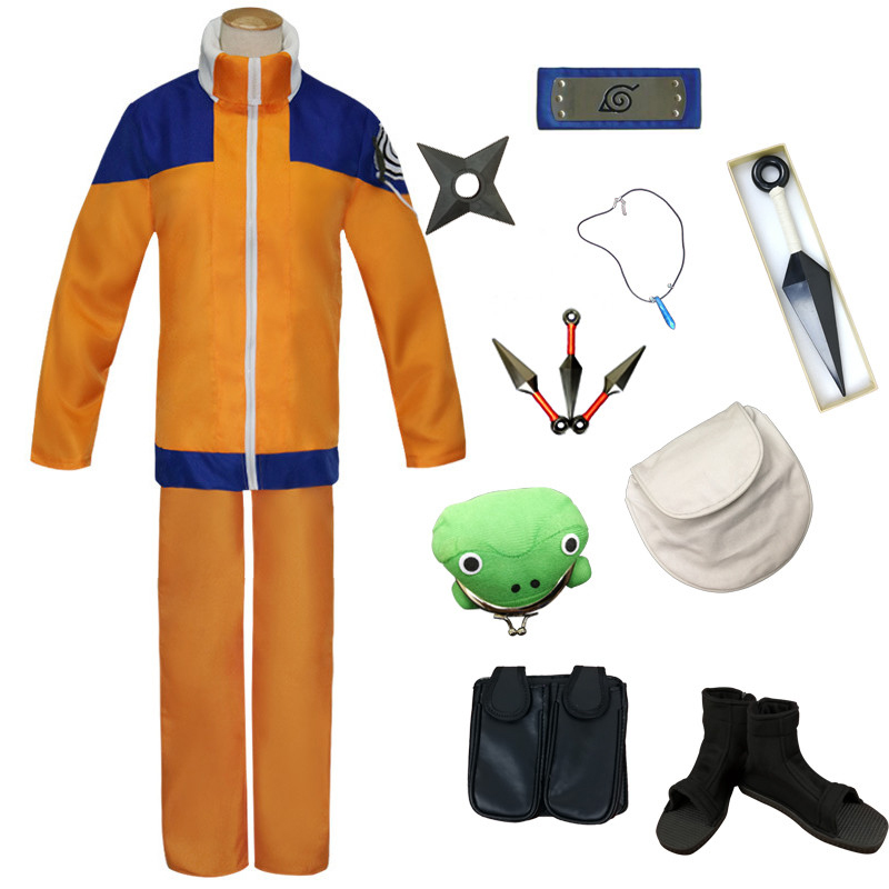 Anime Naruto Cosplay Uzumaki Naruto Costume Suit For Man