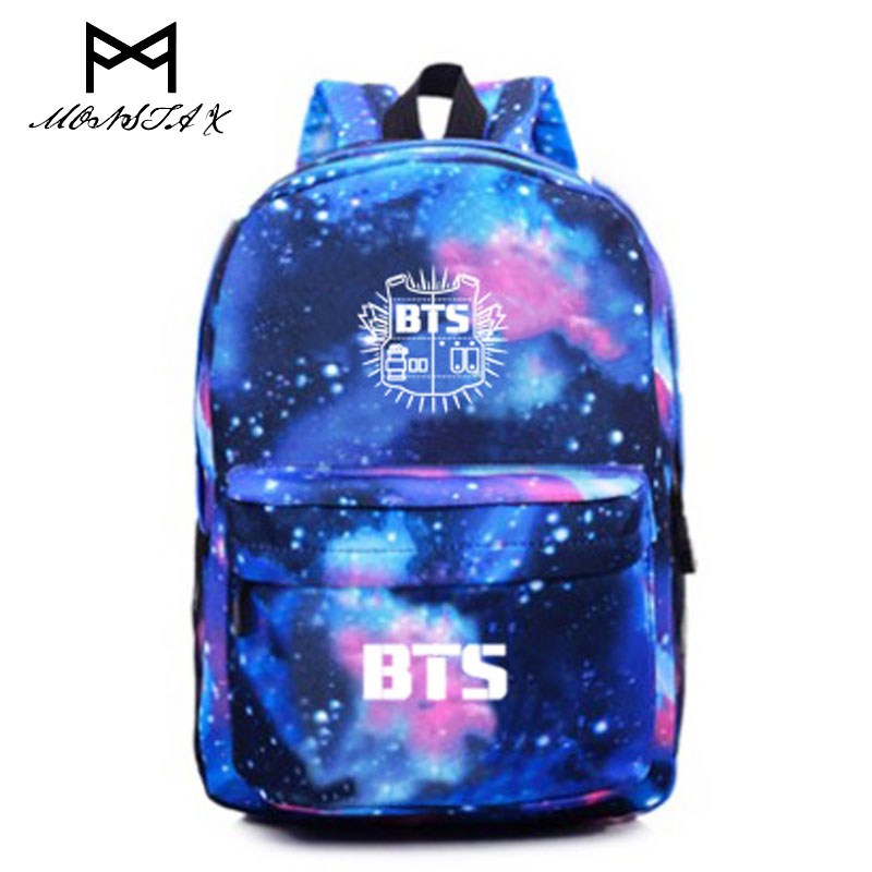 Bag for women 2017 Korean BTS Backpacks For Teenage Girls Star backpack Fashion Kpop Bag Mochila Bts Escolar Feminina