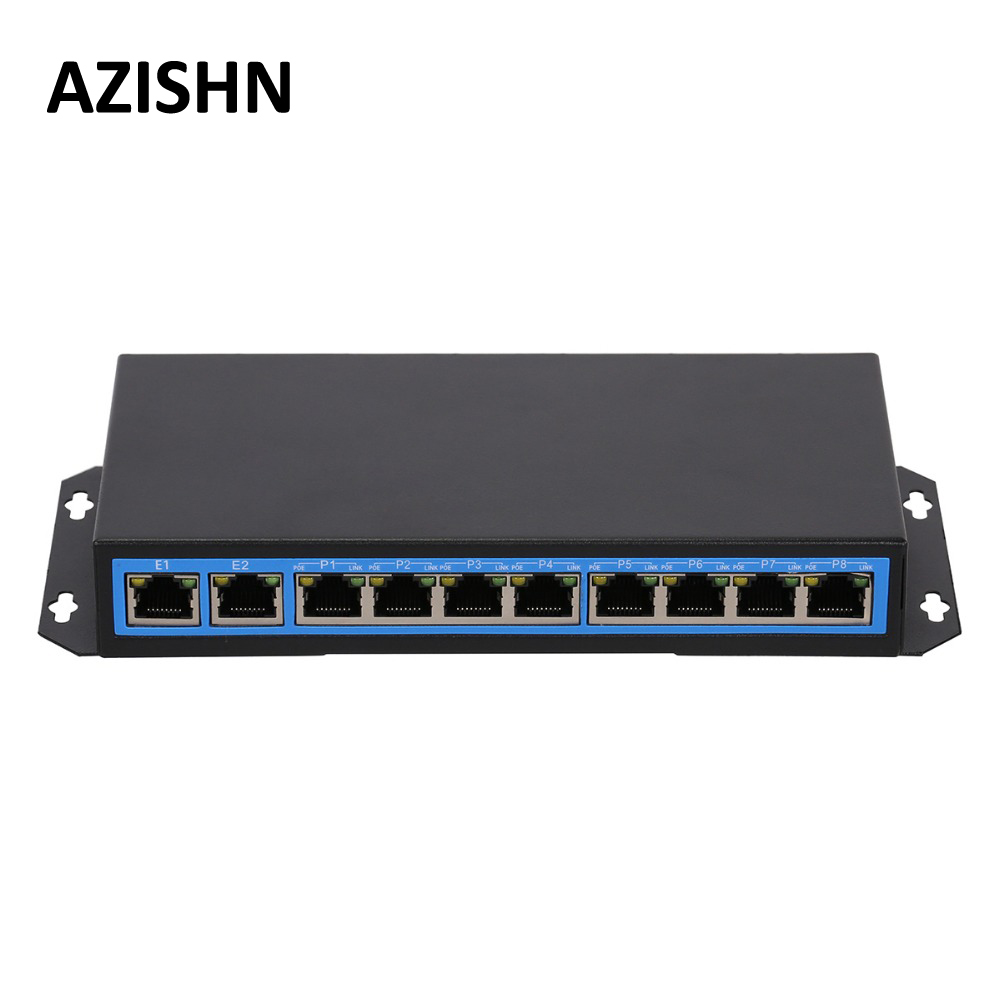CCTV 8 port PoE switch 802.3af IEEE Fast Ethernet Switch 10 port 10/100 switch with 8 port POE For POE IP Camera Network camera 4 port poe switch 10 100m power over ethernet switches with ieee 802 3af standard