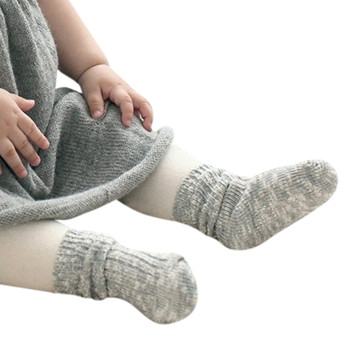 SZYADEOU 2019 Fashion New Hot 1 Pairs Cotton Soft Solid Socks for Baby Boys Girls Toddler Kids Child Freeship 05