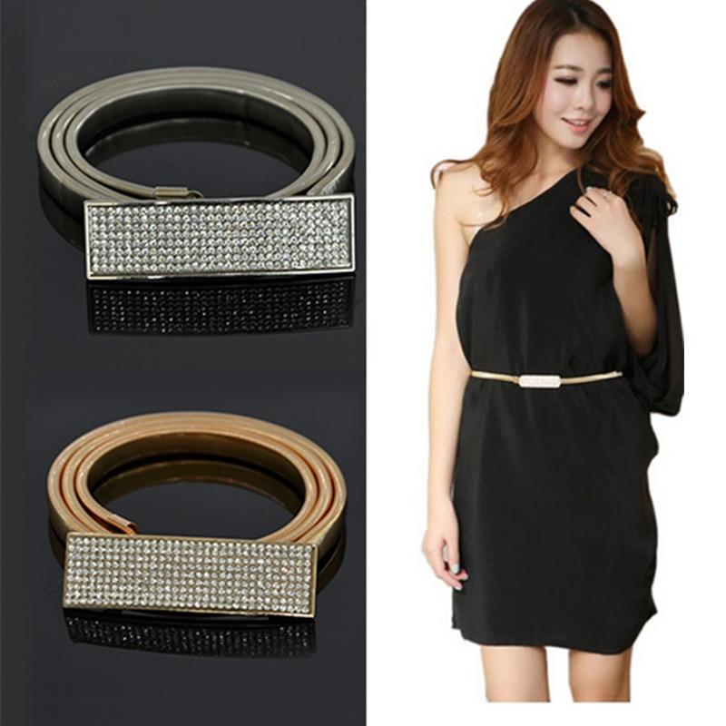 Золотые ремни на платье
