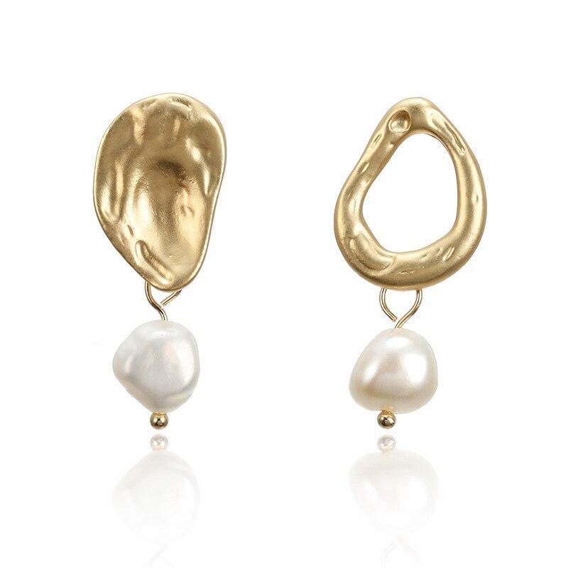 Irregular Freshwater Pearl Shell Drop Earring 2019 Dissymmentry Long Tassel Pendant Dangle Earrings 2019 For Women
