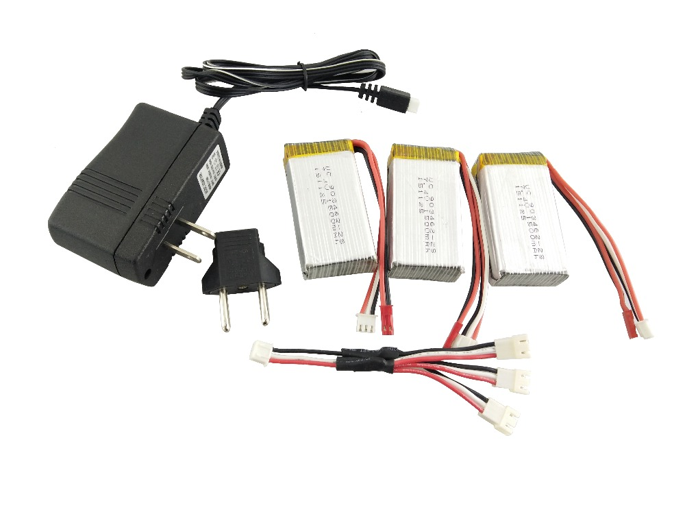 3pcs <font><b>7.4V</b></font> <font><b>1500Mah</b></font> 25C+1 to 3+<font><b>Charger</b></font> Lipo <font><b>Battery</b></font> WLtoys V913 2.4G Remote controlled aircraft Helicopter <font><b>Battery</b></font> image