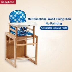 2018 Top Fashion Limited En> 6 أشهر الطفل الطعام كرسي متعدد الوظائف الخشب الطلاء الطفل مقعد طاولة ومقاعد