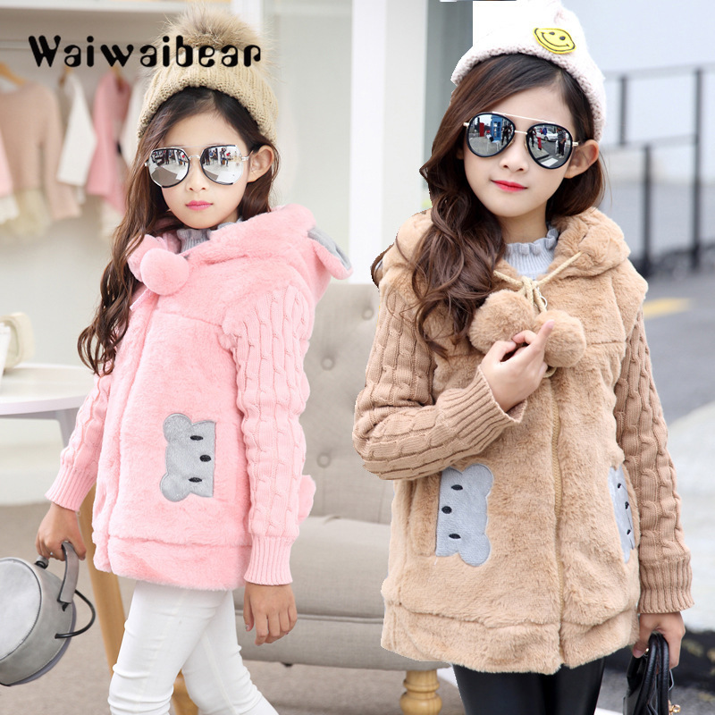 Hot New Girls clothing Baby Coats for Girls Flower Jackets For Spring Autumn Kids Clothes Double-Breasted Top children Outwear spring kids clothes pu leather girls leather dress jackets children outwear for baby girls clothing coats costume 3 13years