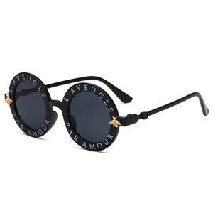 Steampunk من النحل الاطفال النظارات الشمسية الفتيان الفتيات الفاخرة خمر الأطفال نظارة مستديرة نظارات شمسية Oculos Feminino اكسسوارات