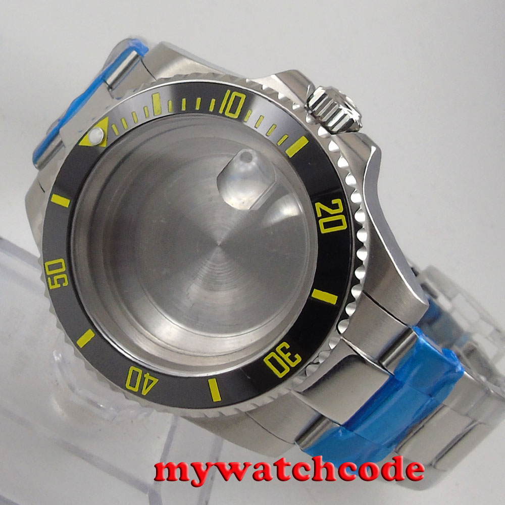 40mm sapphire glass ceramic bezel Watch Case set fit 2824 2836 MOVEMENT C11840mm sapphire glass ceramic bezel Watch Case set fit 2824 2836 MOVEMENT C118