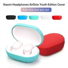 Charging Box Cover Bag For Xiaomi Airdots Protective Cover For Redmi Airdots True Bluetooth Headset Protection Silicone Cover(China)