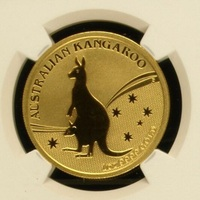 2009 Вольфрамовая монета с покрытием 1,5 г. 999 Золото Autralia кенгуру градуированных PF70 1 troy Oz. in origanl чехол