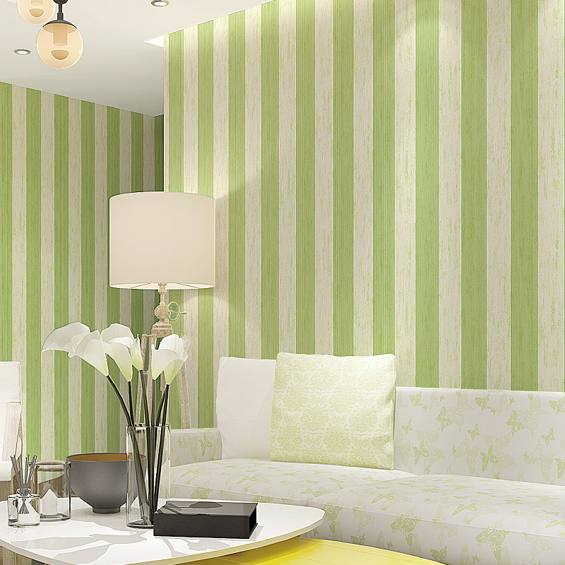 Modern New Vertical Wallpaper Stripes Non-woven Fabric Wallpaper, Living Room TV Background Wall Wallpaper, Blue Green Wallpaper free shipping european tv background wall painting non woven wallpaper living room wallpaper modern rose wallpaper mural