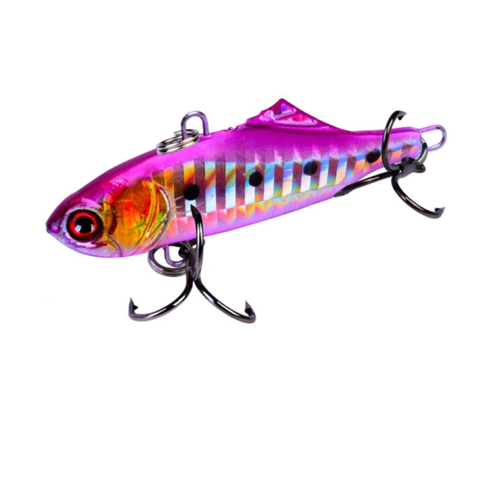 1Pcs/lot 6.5cm/7.5cm winter VIB fishing lure with lead Vibration hard bait diving swivel jig wobbler lure ice sea fishing tackle