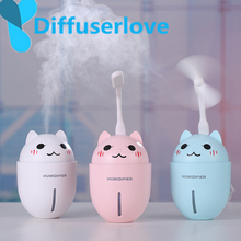 Diffuserlove 3 in 1 320ML Air Humidifier Ultrasonic Cool-Mist Adorable Pet USB Mini/Cute With LED Light/Mini Fan