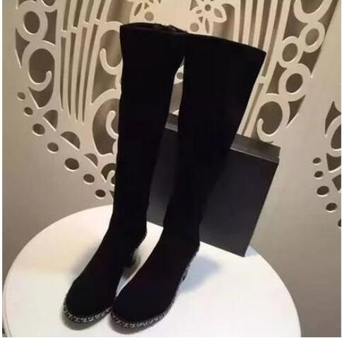 Zpatos Rodilla Picture Con Invierno as 2018 Caliente Cuadradas De Alto As Hasta Zapatos La Mujer Marca Cordones Moda Para Tacón Mujer Botas Picture Venta qAESUwg