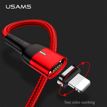 Magnetic Cable for iPhone 6 7 8 X XR XS Max Charging USB Cable,USAMS Magnet phone cable for iPhone Fast charging cord цена и фото