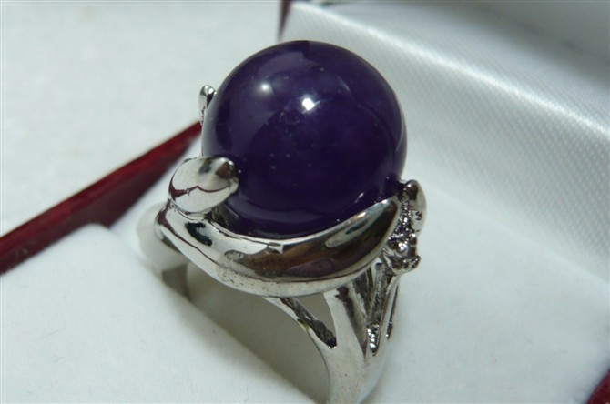free shipping wholesale noble 14mm dark blue fashion ring(#7.8.9)
