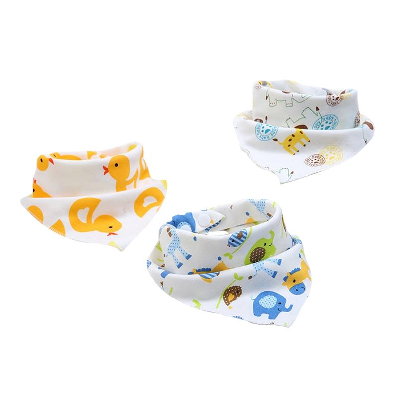 Cotton Baby Bandana Newborn Bibs Feeding Apron Soft Baby Burp Cloth For Girl Boy Cartoon Infant Triangle Anti-Dirty Towels Scarf