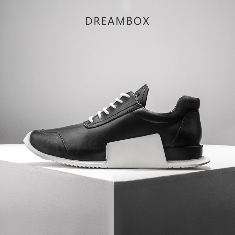 dreambox2017 Summer fashion leather geometric bottom running shoes men's shoes tide dreambox 800 hd крайот