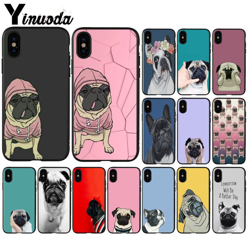 Yinuoda French Bulldog Super Deal Mobile Case for iPhone X XS MAX 6 6s 7 7plus 8 8Plus 5 5S SE XR Cover image