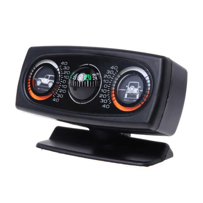 Car-styling 3 In 1 Car Compass Inclinometer Angle Slope Level Meter Finder Gradient Balancer drosphipping