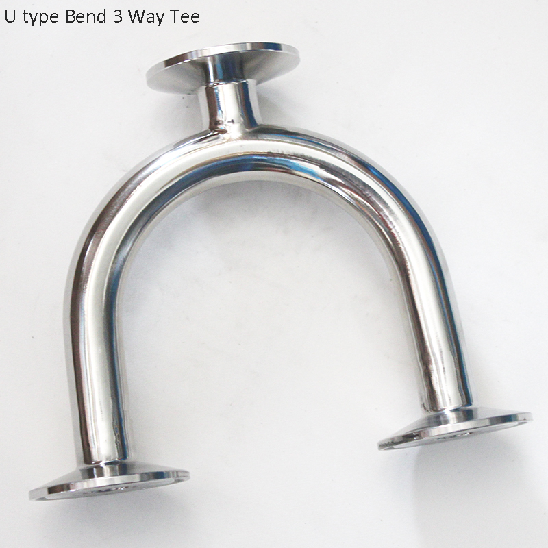 """1/2""""  3/4"""" Stainless Steel 304 Tri Clamp  U Tee,   For Pipe Fitting Homebrew"""