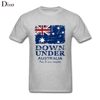 Vintage Australia Flag T Shirt Men Boy Awesome Short Sleeve Fashion Custom Big Size Couple Tee