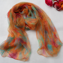 2015 Women 100% Natural Silk Long Silk Scarf Printed,Fashion Silk Shawl,Female Plus Size Silk Scarf 180*105cm For Winter,Autumn