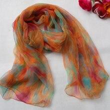2015 Women 100% Natural Silk Long Silk Scarf Printed,Fashion Silk Shawl,Female Plus Size Silk Scarf 180*105cm For Winter,Autumn