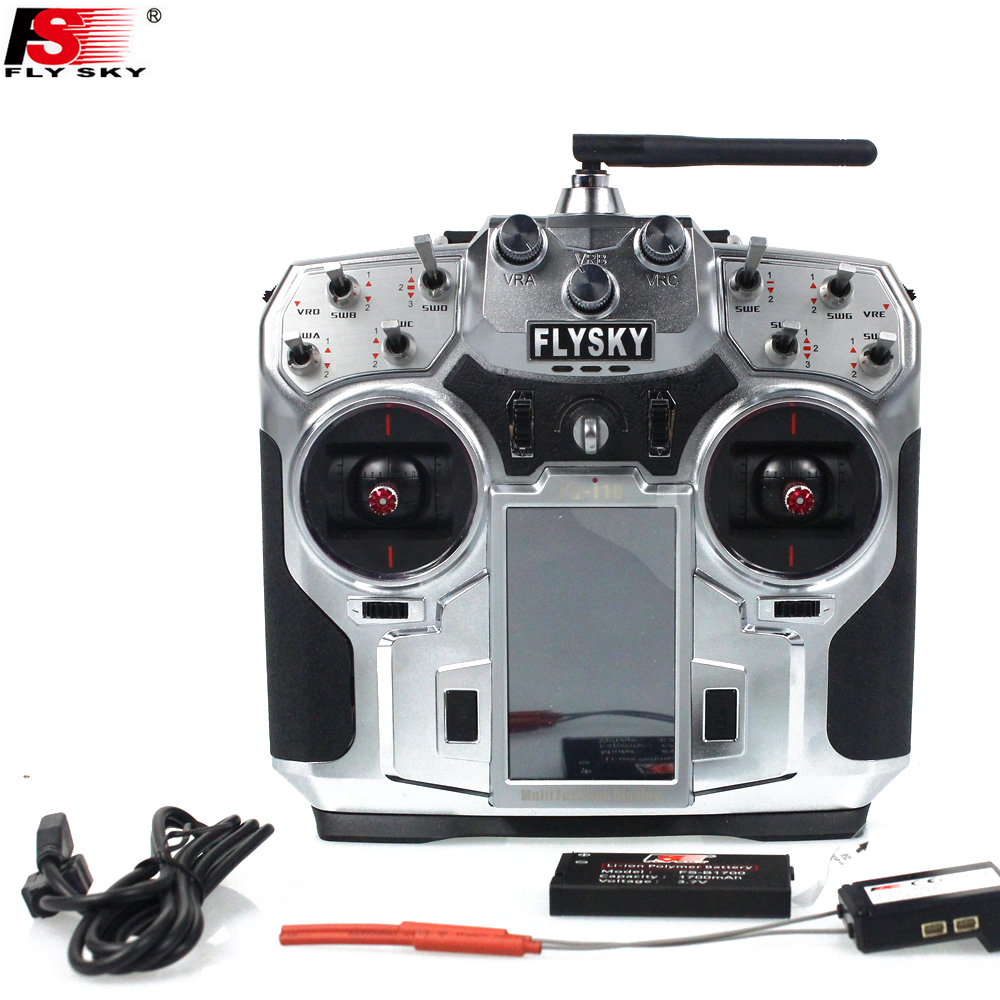 "1pcs Original FlySky FS-i10 I10 2.4g Digital Proportional 10 Channel Transmitter With FS-IA10 Receiver System 3.55"" LED Screen"