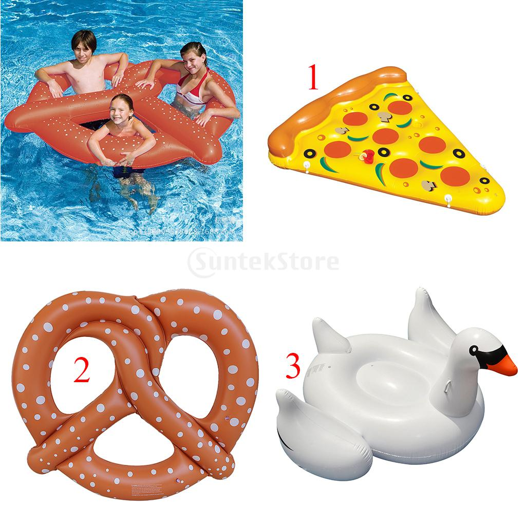 Cute Funny Sunbath Bed Swim Toy Kids Adult Inflatable Blowup Beach Pool Party Toy