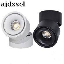 Светодиодный светильник спот светодиодный поверхностного монтажа 360 градусов Rotatab Регулируемый 10 Вт 20 Вт AC110V/220 В пятно света светодиодный светильник для внутреннего фойе,